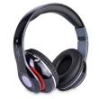 Headphones Wireless Bluetooth w/Microphone, FM Tuner & Micro SD Slot Black