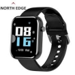 North Edge Healthcare Watch X Brick Black with Blood pressure, heart rate