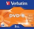 DVD-R 4.7GB 16x Verbatim 5pcs Slimcase