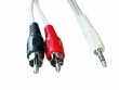 Cable 3,5mm stereo to 2 phono plug 2.5m CCA458