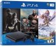 Sony PlayStation 4 1TB Black w/Games Horizon+GodOfWar+The Last of US