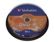 DVD-R Verbatim 4.7GB 16x 10pcs Spindle Matt Silver