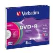 DVD+R 4.7GB 16x Verbatim 5pcs Slimcase