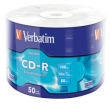 CD-R Verbatim 700MB 52x 50pcs Wrap Extra Protection