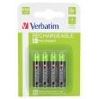 Batteries 930mAH Rech. NI-MH AAA 4pack Verbatim