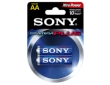 Batteries Sony AM3-B2D 1.5V LR6-AA 2pack Blister Alkaline