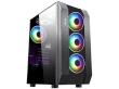 ATX Midi Tower Case SAMA Inpower Black Gold T1 Gaming Black ARGB Strip w/o PSU
