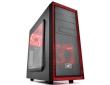 ATX Midi Tower Case Deepcool Tesseract SW-RD Black/Red w/USB 3.0, USB 2.0, 2x Red LED Fan
