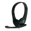 Headphones Omega Freestyle FH-4088 Black w/Microphone HI-FI