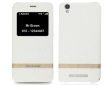 Flip Case w/Window for Blackview A8 Leather Pearl White