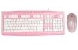 Keyboard A4 Mad for Plaid Pink w/Mouse Audio I/O Jacks & USB Port