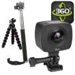 Action Camera Gigabyte JOLT Duo 360 4MPx2 1920x960 Dual Lens w/Tripod, Selfie Stick & Monopod
