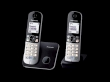 Telephone Panasonic KX-TG6812JTB with 2 Handsets Black