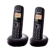 Telephone Panasonic KX-TGB212 with 2 Headphones Black