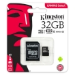 Secure Digital Micro Kingston 32GB SDHC Canvas Select cl10 UHS-I 80MB Read w/Adapter