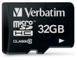 Secure Digital Micro Verbatim 32GB SDHC High Speed Class10 w/Adapter