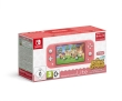 Nintendo Switch Lite Console Coral + Animal Crossing