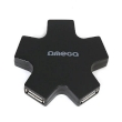 USB HUB 2.0 4-Port Omega OUH24SB Star Black
