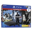 Sony PlayStation 4 1TB Black w/Games Horizon+Uncharted4+The Last of US