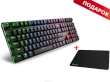 Keyboard Sharkoon PureWriter RGB Mechanical Gaming w/RGB - Red Switch + GRATIS Mouse Pad 1337