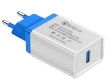 Universal Fast Charger for Smartphones Qualcomm Quick Charge QC 3.0 White/Blue