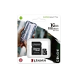 Secure Digital Micro Kingston 16GB SDHC Canvas Select Plus cl10 UHS-I 100MB Read A1 w/Adapter