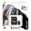 Secure Digital Micro Kingston 64GB SDXC Canvas Select Plus cl10 UHS-I 100MB Read A1 w/Adapter