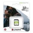 Secure Digital Kingston 32GB SDHC Canvas Select Plus CL10 UHS1 U1 V10 100MB Read