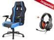Gaming Chair Sharkoon SKILLER SGS1 Black/Blue + GRATIS Headphones Sharkoon RUSH ER3 Gaming
