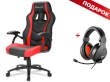 Gaming Chair Sharkoon SKILLER SGS1 Black/Red + GRATIS Headphones Sharkoon RUSH ER3 Gaming