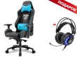 Gaming Chair Sharkoon SKILLER SGS3 Black/Blue + GRATIS Headphones Sharkoon SKILLER SGH2 Gaming USB