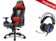 Gaming Chair Sharkoon SKILLER SGS3 Black/Red + GRATIS Headphones Sharkoon SKILLER SGH2 Gaming USB