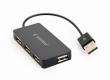 USB HUB 2.0 4-Port Gembird Black UHB-U2P4-04