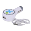 USB Universal Car Charger Vivitar 2.1A w/Micro USB Cable White